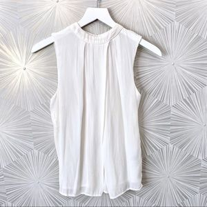 NWOT Nordstrom Halogen Sleeveless Top off-white Sm